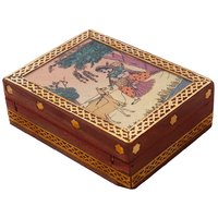 Meera Gemstone Painting Wooden Jewelry Box