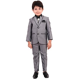 0ff85ad8e Buy Boys Coat Suit with Shirt Pant and Tie Kids Wear by Arshia ...