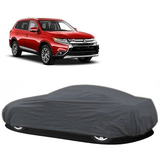 SpeedGlorY Water Resistant  Car Cover For Mahindra Quanto (Grey Without Mirror )