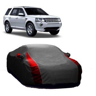 SpeedRo Water Resistant  Car Cover For Toyota Fortuner (Designer Grey  Red )
