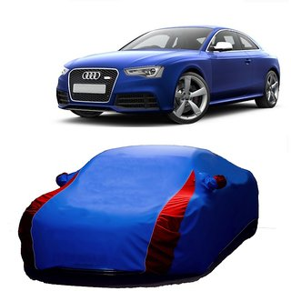 AutoBurn All Weather  Car Cover For Mahindra Scorpio (Designer Blue  Red )