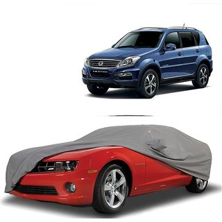 Speediza Water Resistant  Car Cover For Hyundai Santro Xing (Grey With Mirror )
