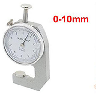 Thickness 0-10mm Range Round Dial Thickness Gauge Measure Tool