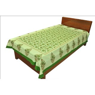 Original RajasthaniEthinic Print PureCotton Single Bed Sheet for Gifting SRB2110