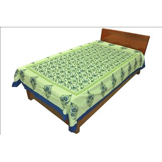 OriginalRajasthani Ethinic Print PureCotton Single Bed Sheet for Gifting2112