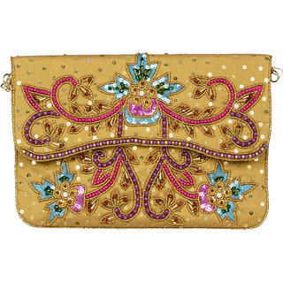 Yassvi Sling Bag - Gold Color