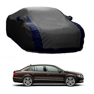 Bull Rider All Weather  Car Cover For Mahindra Xuv500 (Designer Grey  Blue )