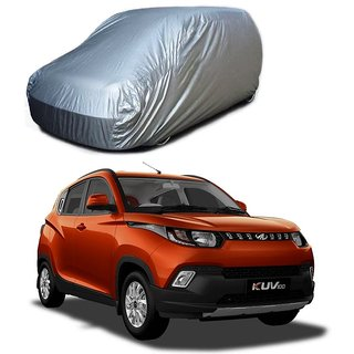 DrivingAID UV Resistant Car Cover For Maruti Suzuki Zen Estilo Type 1 (Silver Without Mirror )