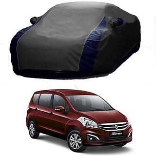AutoBurn UV Resistant Car Cover For Hyundai Eon (Designer Grey  Blue )