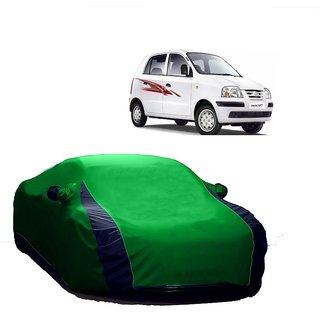 DrivingAID Car Cover For Maruti Suzuki Sx4V (Designer Green  Blue )