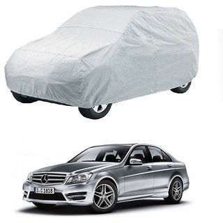 Speediza Water Resistant  Car Cover For Chevrolet Beat 2015 (New Model) (Silver Without Mirror )