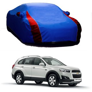 AutoBurn UV Resistant Car Cover For Honda Brio (Designer Blue  Red )