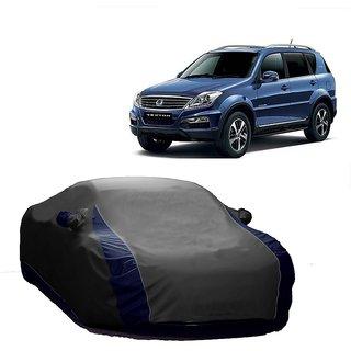 MotRoX Water Resistant  Car Cover For Tata Sonata (Designer Grey  Blue )