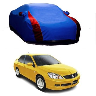 AutoBurn UV Resistant Car Cover For Mercedes Benz C Class (Designer Blue  Red )