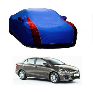 AutoBurn UV Resistant Car Cover For Toyota Camry Hybrid (Designer Blue  Red )