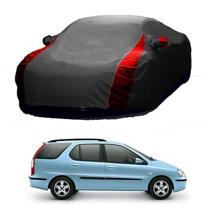 MotRoX Water Resistant  Car Cover For SsangYong Korando (Designer Grey  Red )