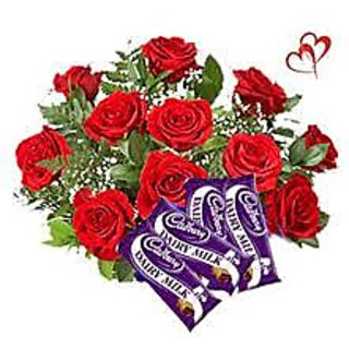 Roses with Chocolates for Your Valentine