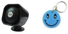 New Car Safety Reverse Siren TUK TUK With Free Smiley Key Chain.