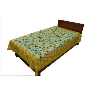 Designer Exclusive Floral Print King Size Single Bed Sheet SRB2117