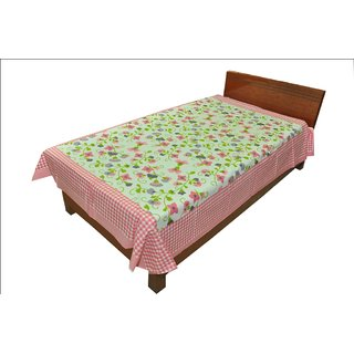 Designer Exclusive Ethinic Floral Print King Size Single Bed Sheet SRB2118