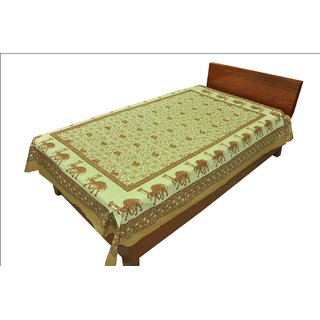 100 Cotton Traditional Animal print Single Bed Sheet SRB2125