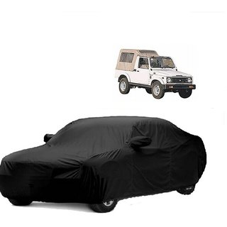 Bull Rider All Weather  Car Cover For Ford Ikon (Black With Mirror )