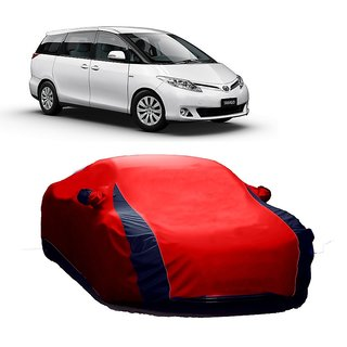 Bull Rider All Weather  Car Cover For Audi S6 (Designer Red  Blue )