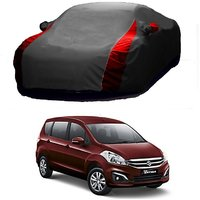 AutoBurn UV Resistant Car Cover For Hyundai Eon (Designer Grey  Red )