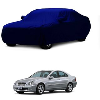 InTrend Water Resistant  Car Cover For Honda Amaze (Blue With Mirror )