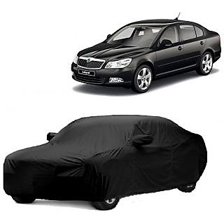 MotRoX Car Cover For Mahindra Maximo Plus (Black With Mirror )