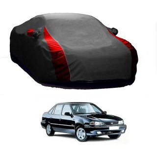 DrivingAID All Weather  Car Cover For Toyota Camry (Designer Grey  Red )