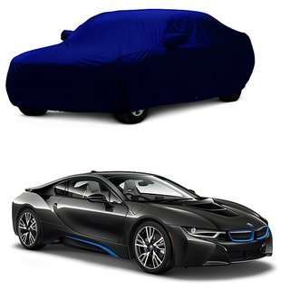 Bull Rider Water Resistant  Car Cover For Audi S3 (Blue With Mirror )