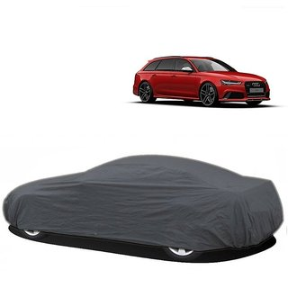 Bull Rider Water Resistant  Car Cover For Mahindra Scorpio (Grey Without Mirror )