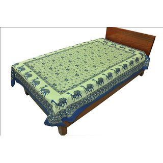 100 Cotton Traditional Animal print Single Bed Sheet SRB2127