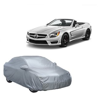 RideZ UV Resistant Car Cover For Mahindra Supro (Silver With Mirror )