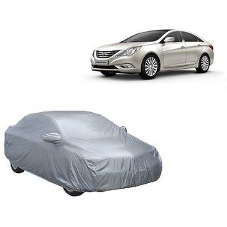 RideZ UV Resistant Car Cover For Hyundai Verna (Silver With Mirror )