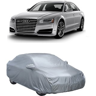 Buy RideZ All Weather Car Cover For Audi A Silver With Mirror - Audi a8 car cover