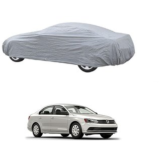 DrivingAID UV Resistant Car Cover For Renault Kwid (Silver Without Mirror )