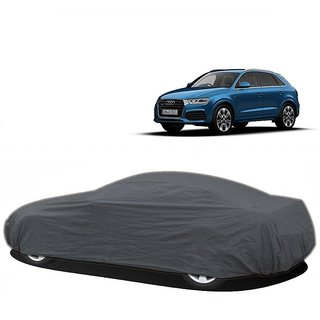 DrivingAID UV Resistant Car Cover For Tata Safari (Grey Without Mirror )