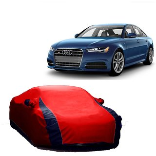 Bull Rider All Weather  Car Cover For Nissan Sunny (Designer Red  Blue )