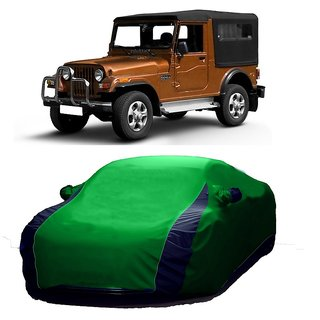 DrivingAID All Weather  Car Cover For Renault Koleos (Designer Green  Blue )