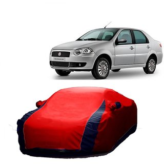 DrivingAID All Weather  Car Cover For Mahindra TUV 301 (Designer Red  Blue )