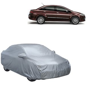 InTrend Water Resistant  Car Cover For Fiat Linea (Silver With Mirror )