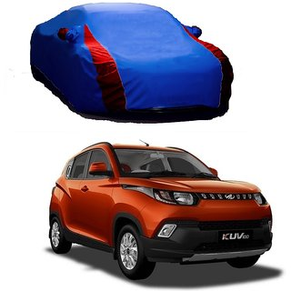 DrivingAID All Weather  Car Cover For Maruti Suzuki Zen Estilo Type 1 (Designer Blue  Red )