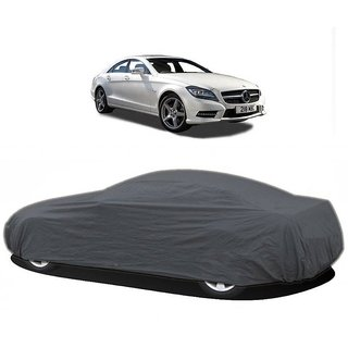 DrivingAID UV Resistant Car Cover For Mahindra Bolero XL (Grey Without Mirror )