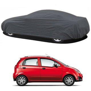 DrivingAID UV Resistant Car Cover For Maruti Suzuki Wagon R (Grey Without Mirror )