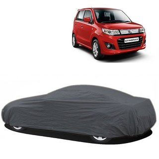 DrivingAID UV Resistant Car Cover For Maruti Suzuki Wagon R Stingray (Grey Without Mirror )