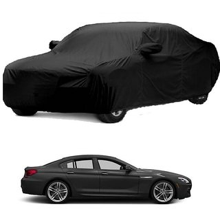 RideZ UV Resistant Car Cover For BMW Alpina B6 (Black With Mirror )