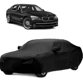 RideZ UV Resistant Car Cover For BMW Alpina B7 (Black With Mirror )