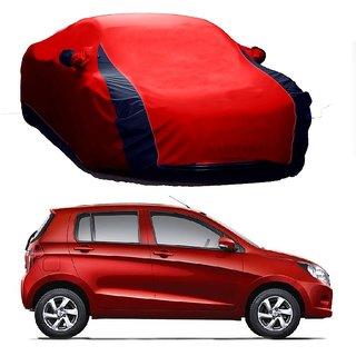 RideZ UV Resistant Car Cover For Honda BRV (Designer Red  Blue )
